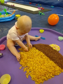 Messy play cereal