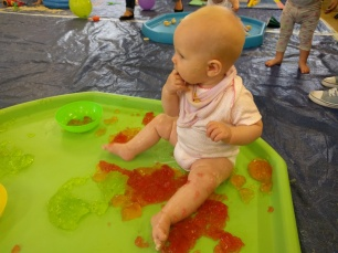 Messy play jelly
