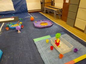 Messy play stations
