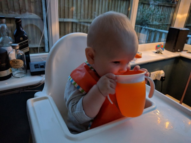 Munchkin 360 being sipped