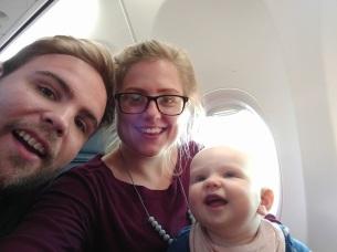 Flight selfie
