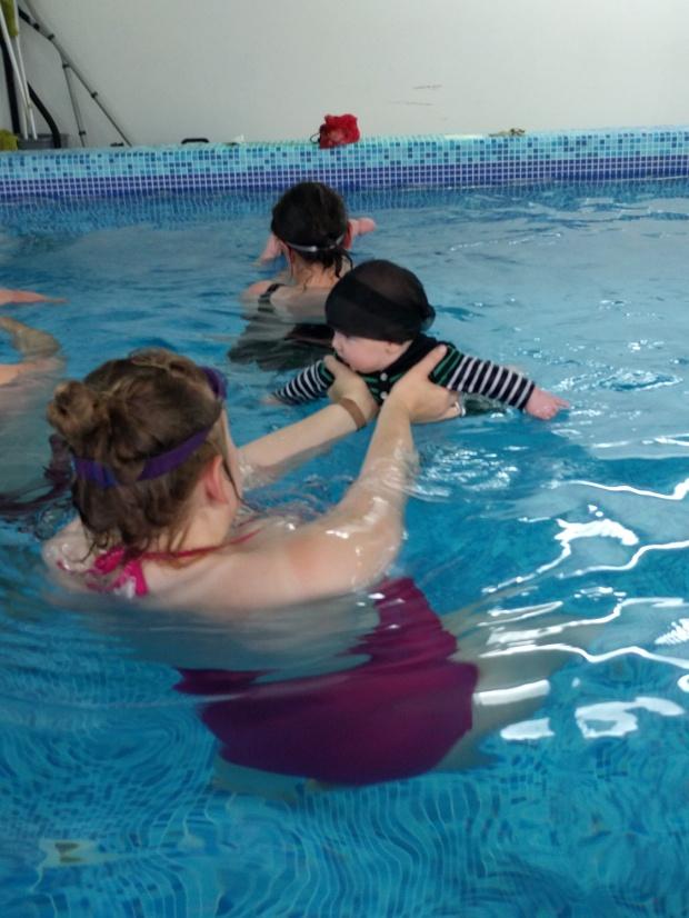Swimming on tummy