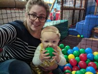 Soft play ball pool with mummy